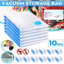 10Pcs Vacuum Storage Bags Space Saver For Travel Triple Seal Clothes 50x60