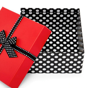 Christmas/Valentine's Gift Box with Lids for Presents 6'' X 6''X3''