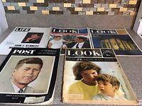 (5) Look/Post/LIFE Magazines JFK KENNEDY President Memorial