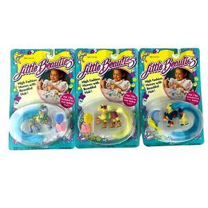 Vintage 1988 Little Beauties Petite Ponies Horses New x 3  Multi Toys MTC