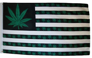 3x5 Marijuana Green 7 point Weed USA Flag 3'x5' 9 Point Legailze House Banner