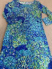 Lilly Pulitzer Lilly's Lagoon Marlowe Dress, S, 4,6,8, Holy Grail, Euc