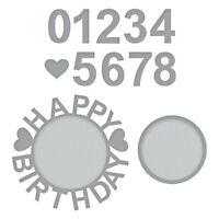 Stanzschablone Birthday Ziffer Weihnachten Hochzeit Oster Geburstag Karte Album