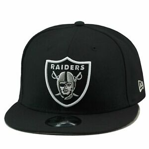 Las Vegas Raiders New Era 9FIFTY NFL Adjustable Snapback Hat Cap Black White 950