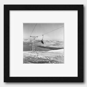 Ski Lift at the Cairngorms Mountains in Scotland UK 1962 Print 2