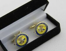 A PAIR US DEPARTMENT OF JUSTICE CUFF LINKS BADGE WITH BOX