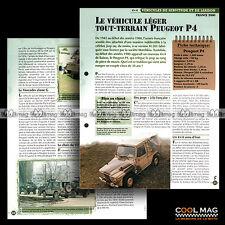#vm005.11 ★ PEUGEOT P4 4X4 VLTT TOUT-TERRAIN ★ Fiche Véhicule Militaire