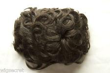 Chestnut Brown with 25% Grey Grey Medium Human Hair Monofilament Wavy Toupee