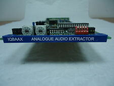 SNELL & WILCOX IQBAAX 4 CHANNEL ANALOG AUDIO DE-EMBEDDER CARD WITH REAR MODULE*