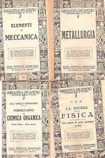 FISICA MECCANICA CHIMICA ATOMICA RESISTENZA MATERIALI METALLURGIA SONZOGNO 1925