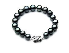 $6,599 Pacific Pearls® AAA 9-11 mm Tahitian Black Pearl Bracelet