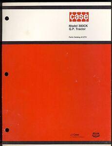 1974 J I CASE PARTS CATALOG  MODEL 380CK G.P. TRACTORS / A-1273