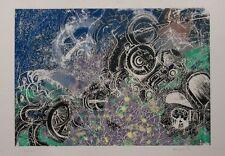 Abstract  Serigraph - Ginga K print - 40cm x56cms - Rare limited edition print
