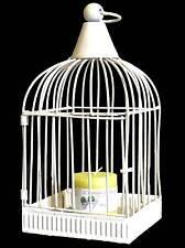 style ancienne cage a oiseau a bougie lanterne chandelier bougeoir en metal fer