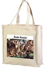 Koala Kwintet Shopping Bag, Choice of Colours, Black, Cream