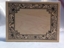 Northwoods Christmas Poinsettia Flowers Berries Pines Frame Border Rubber Stamp