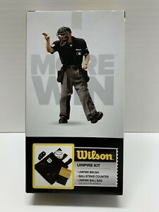 Wilson Baseball / Softball Umpire Gear Kit - Black (NEW) Great Price-Great Gift!