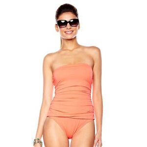Echo Design Ruched Solid One-Piece Swimsuit 247086