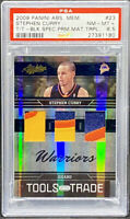 Stephen Curry 2009 Panini Absolute Triple Patch Prime /25 Rookie PSA 8.5 POP 1