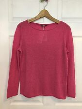 New NWT UNIQLO Women 100% CASHMERE Boat Neck Sweater Pink M $59.9 Light