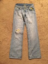 Jessica Simpson Distressed Embroidered Boot Cut Jeans...Size 0 Rare❤️