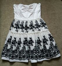 Warehouse Dress Strapless  Cream Embroidery Ballerina Occasion  UK12/40 Prom
