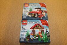 LEGO Creator 40082 + 40083 Christmas Tree Ltd Edition set 2013 New sealed boxes