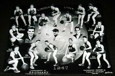 TACOMA LINCOLN HIGH SCHOOL LYNX 1947 BASKETBALL TEAM PHOTO Black & White Glossy