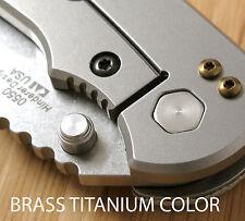 Zero Tolerance ZT0550 566 561 ZT Knives Pocket Clip Titanium Screws Set - BRASS