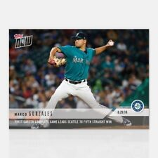 2018 TOPPS NOW #386 FIRST CAREER COMPLETE GAME LEADS TO 5TH WIN MARCO GONZALES