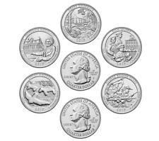 2017 P or D MINTS 5 US NATIONAL PARKS QUARTER DOLLAR COINS FULL YEAR SET