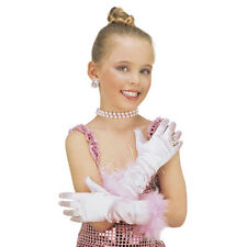 MARABOU FANCY DRESS OUTFIT ACCESSORIO FEMMINA PRINCESS #PINK breve Guanti
