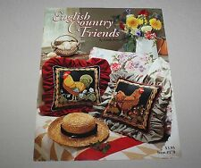 English Country Friends Counted Just Cross Stitch Pattern Booklet 170 Jary 1990