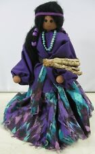 Vintage 10� Tall Wood Indian Madden Doll