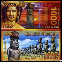 Easter Island, 1000 Rongo, 2011, Polymer, New, UNC