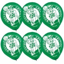 BOSTON CELTICS NBA Helium Quality Latex Balloons Pack of 6 New Sports Decorate