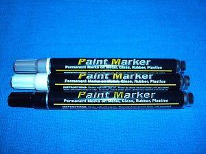 Chrome Dash Bezel Vents Glove Box Trim Console Shifter Paint Repair Markers 3 pc