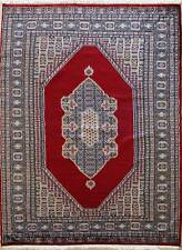 Rugstc 4.5x7 Pak Persian Red Area Rug, Hand-Knotted,Medallion with Wool Pile