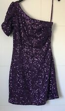 90d45cd8015ded Gorgeous Purple Sequin/sparkly Dress New Look Size 8 short. *worn once