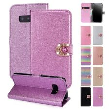 For Galaxy J3 J4 J6 J7 J8 Diamond Luxury Bling Stand Flip Card Slot Wallet Cover