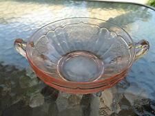 """PINK MAYFAIR """"OPEN ROSE"""" 5"""" CREAM SOUP BOWL (S) HOCKING DEPRESSION GLASS 1931-37"""
