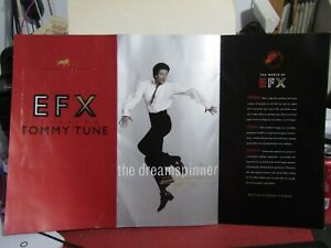 1999 MGM GRAND PRESENTS EFX STARRING TOMMY TUNE 6 PAGE FOLDER WITH AUTOGRAPHED