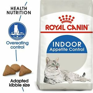 Royal Canin Indoor Appetite Control Dry Adult Cat Food Reduces Stool Odour 400 g