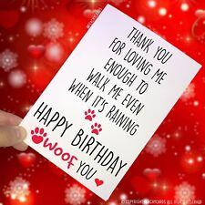 Feliz Cumpleaños Tarjetas Papá Mamá Regalo Perro Walker de El Pc144