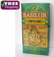 Pure Ceylon Green Tea Exclusive Premium Quality 25 Tea Bags BASILUR