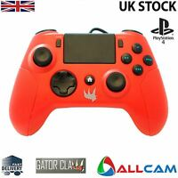 Gator Claw Sony Playstation PS4 Controller wired w/ Upgraded Firmware - Red