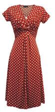 Vestidos vintage de mujer rojos de poliéster