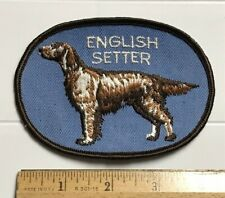 English Setter Dog Breed Souvenir Embroidered Blue Patch Badge