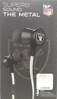 NFL Oakland Raiders Pro Metal Earbuds W/ Built In Microphone by ihip