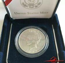 Liberty 1923 One Dollar Peace Pièce de Monnaie, U. S. A. Avec Case. Ré-émis' En